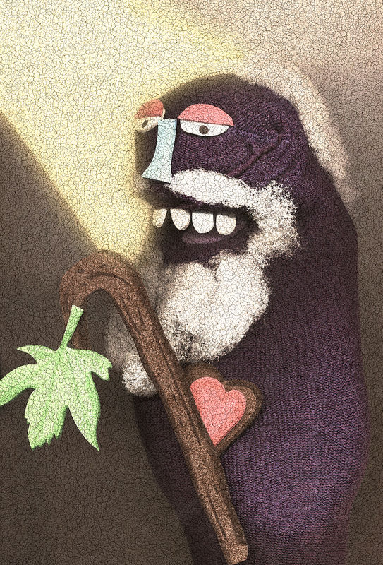 Sock Puppet Portrait of The Prophet Amos on Spark & Echo