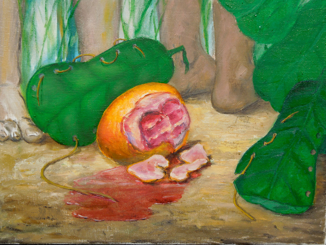 Two Bites: Still Life with Blood Orange on Spark & Echo